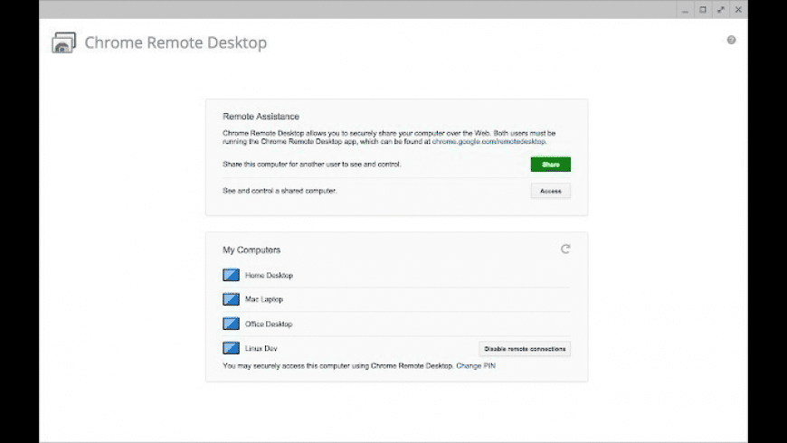 Chrome Remote Desktop for Mac - review, screenshots