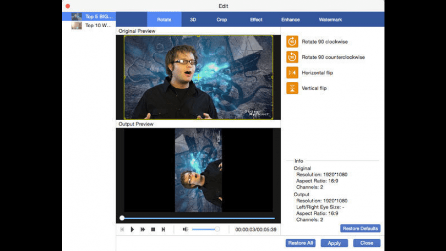 AnyMP4 Video Converter Ultimate for Mac - review, screenshots