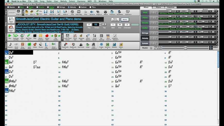 Band-in-a-Box for Mac - review, screenshots