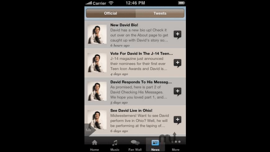 David Archuleta for Mac - review, screenshots