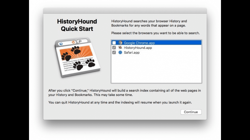 HistoryHound for Mac - review, screenshots