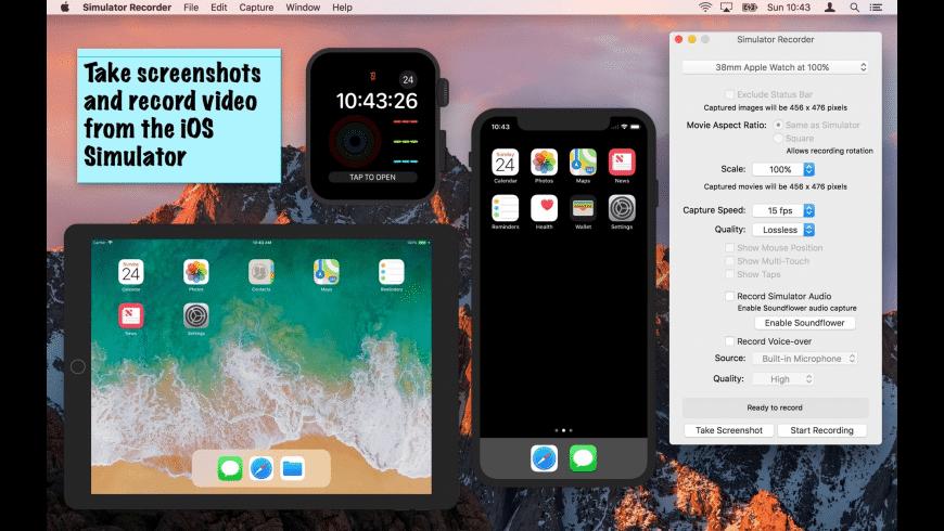 Simulator Recorder for Mac - review, screenshots
