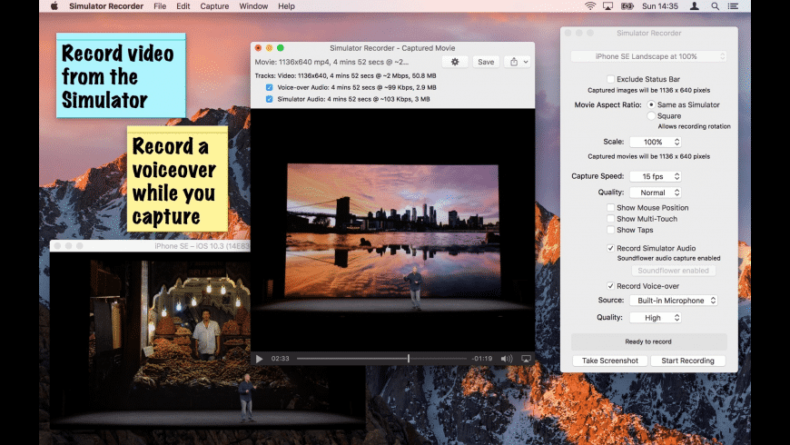 Simulator Recorder for Mac - review, screenshots