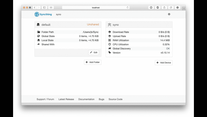 Syncthing for Mac - review, screenshots