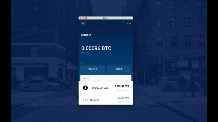 BitPay for Mac - review, screenshots