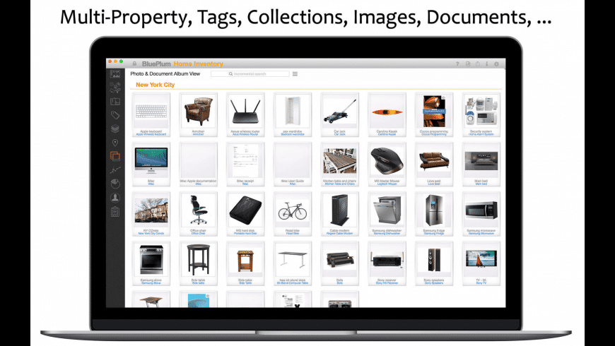 BluePlum Home Inventory for Mac - review, screenshots