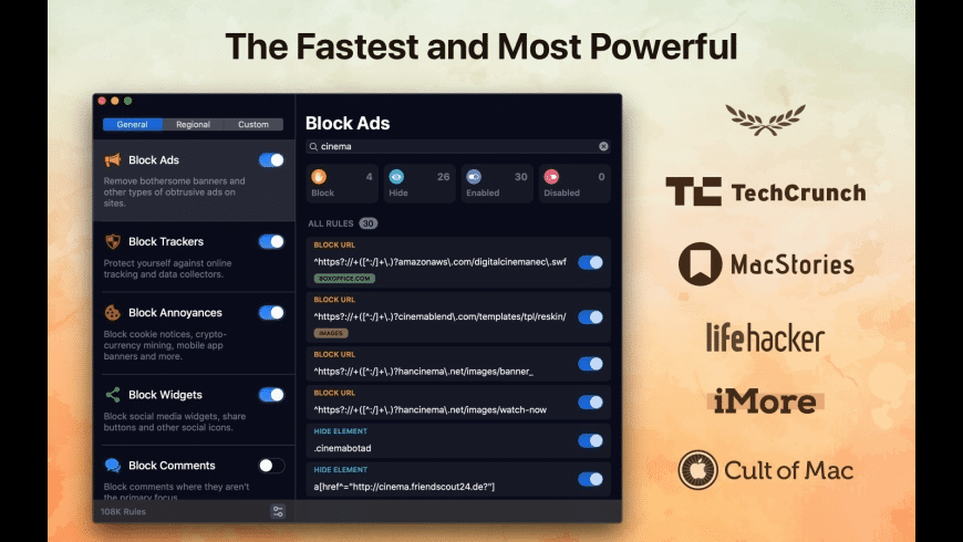 1Blocker for Mac - review, screenshots