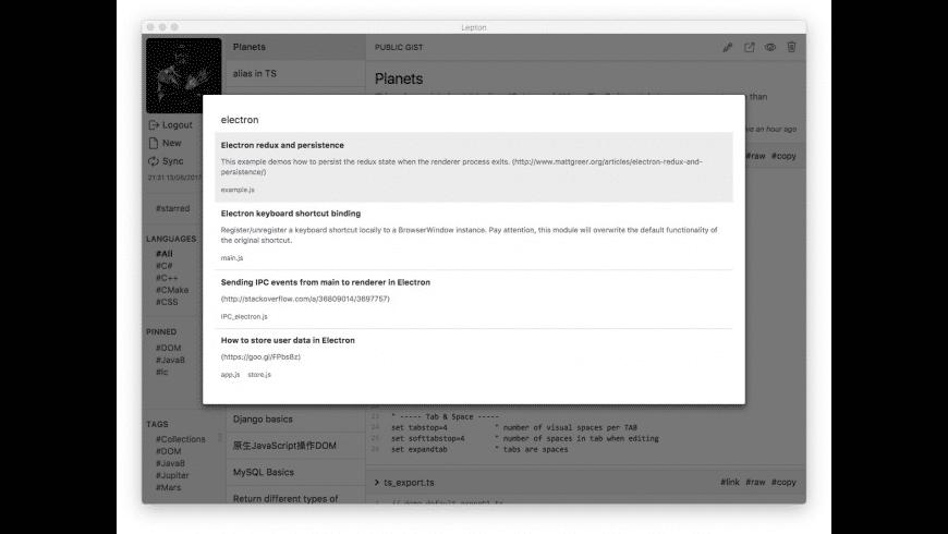 Lepton for Mac - review, screenshots