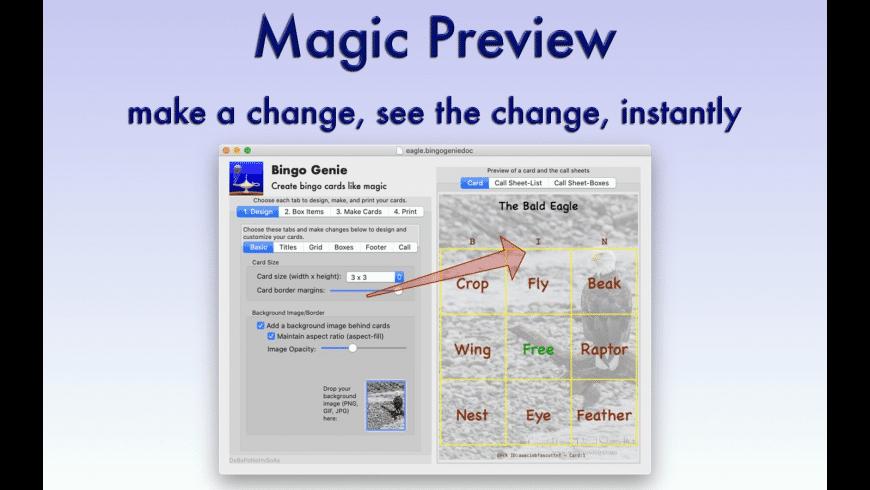 Bingo Genie for Mac - review, screenshots