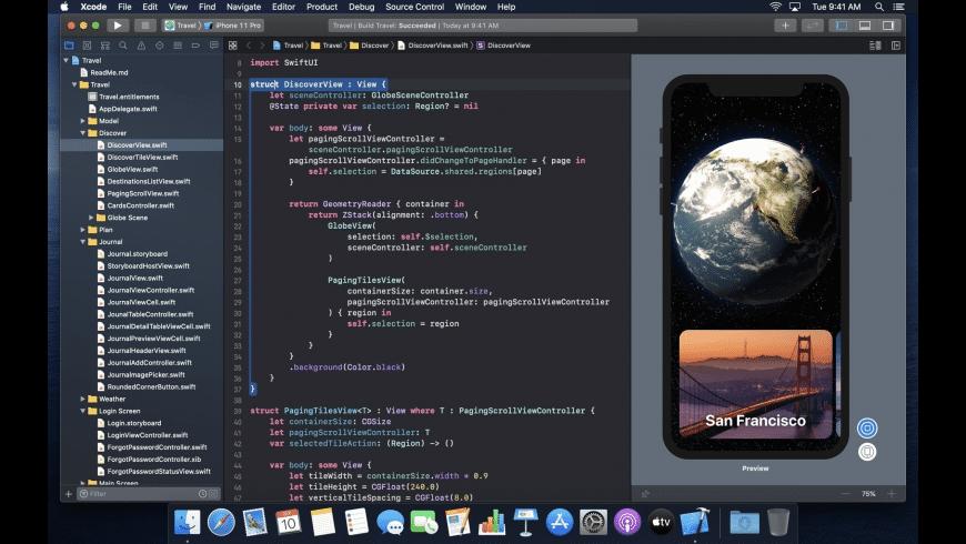 Xcode for Mac - review, screenshots