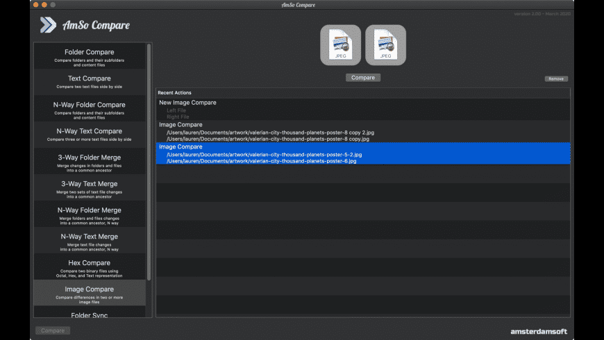 Compare for Mac - review, screenshots