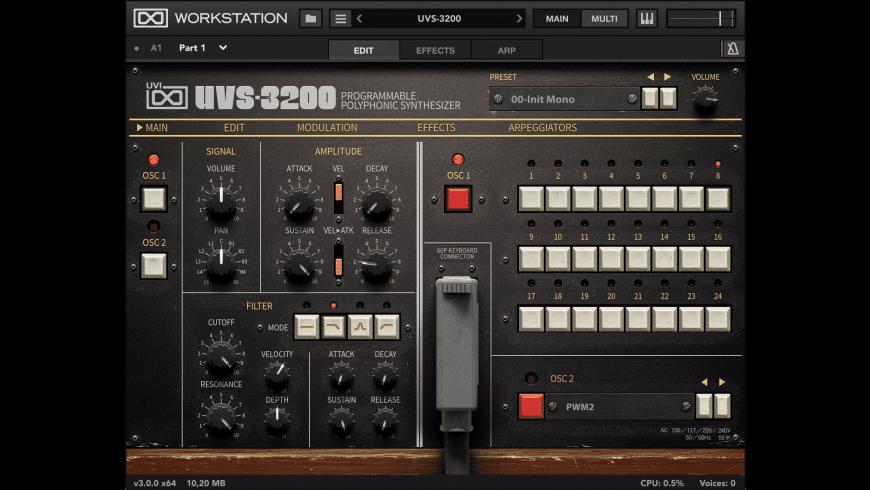 UVIWorkstation for Mac - review, screenshots