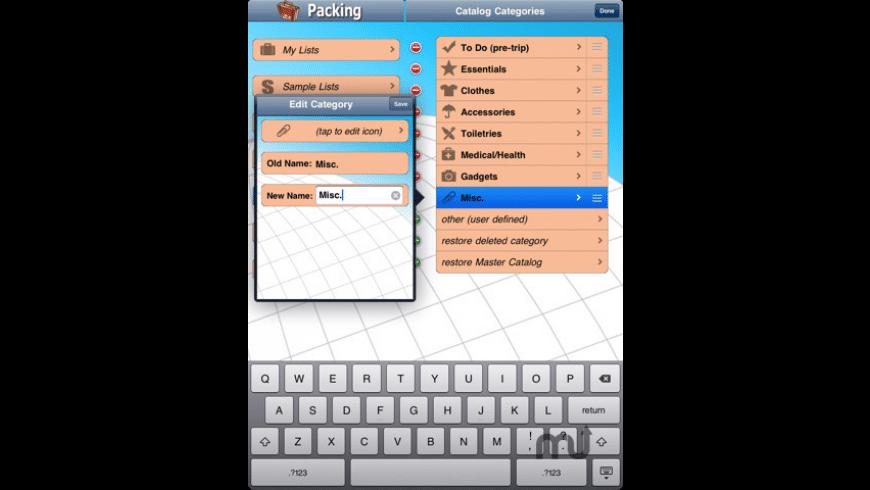 Packing (+TO DO!) for Mac - review, screenshots