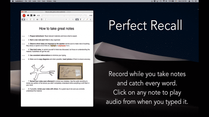AudioNote for Mac - review, screenshots