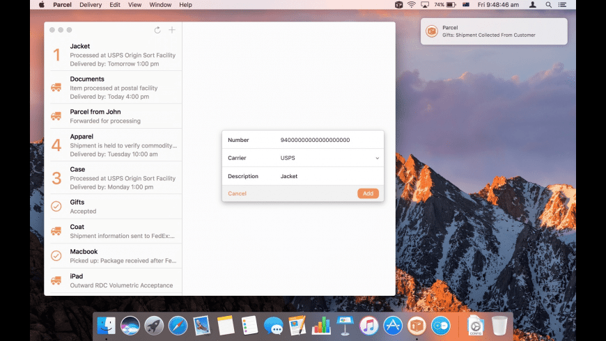 Parcel for Mac - review, screenshots