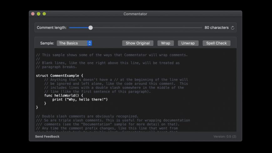 Commentator for Mac - review, screenshots