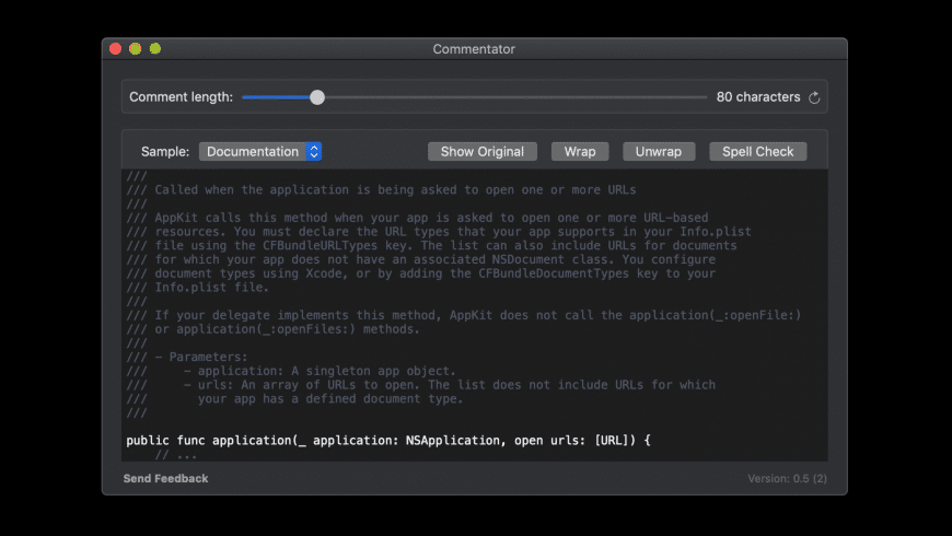 Commentator for Mac - review, screenshots