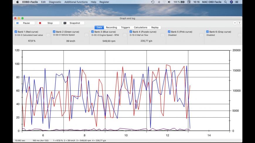 EOBD Facile for Mac - review, screenshots