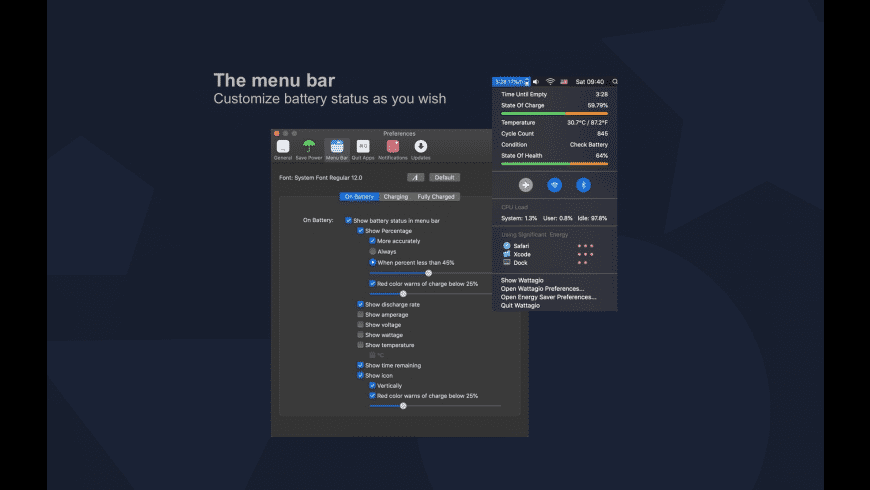Wattagio for Mac - review, screenshots