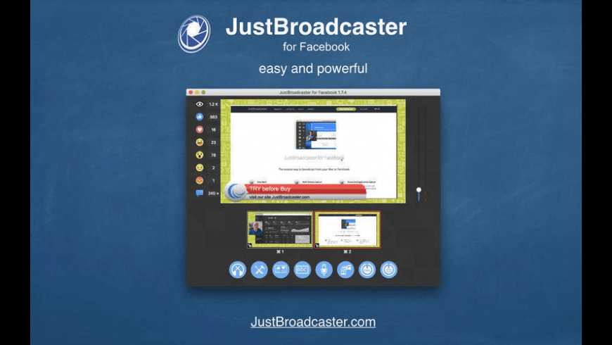 JustBroadcaster for Facebook for Mac - review, screenshots