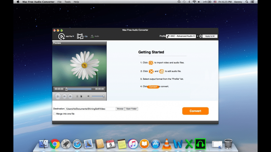 Shining Free Audio Converter for Mac - review, screenshots