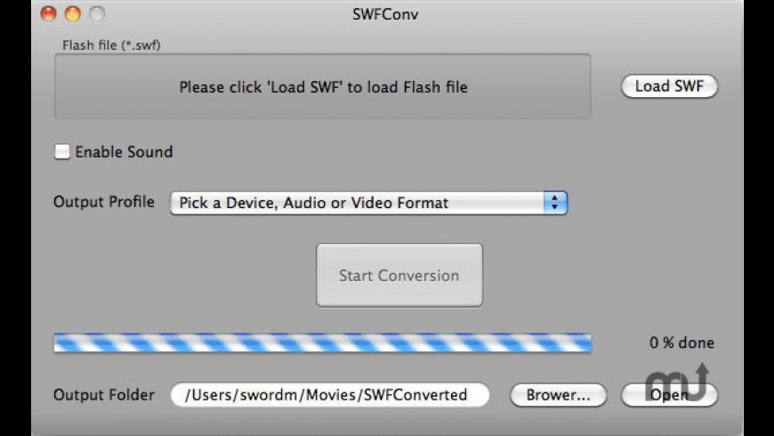 SWFConv for Mac - review, screenshots