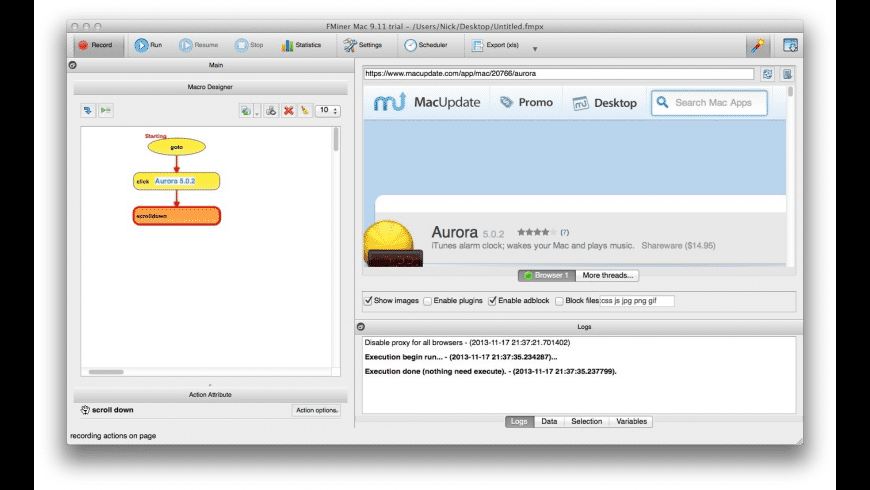 FMiner for Mac - review, screenshots