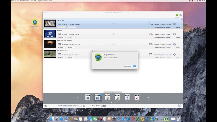 WonTube for Mac - review, screenshots