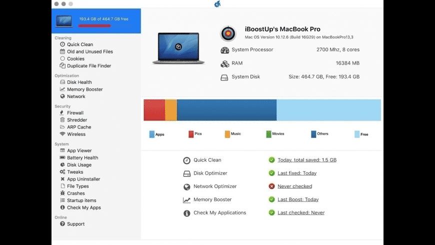 iBoostUp for Mac - review, screenshots