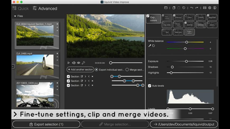 liquivid Video Improve for Mac - review, screenshots