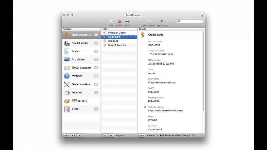 PassDirector for Mac - review, screenshots