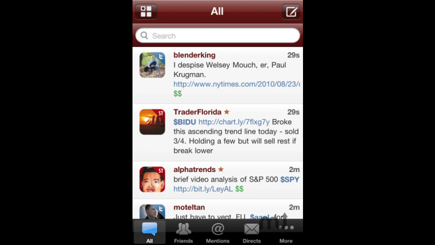 StockTwits for Mac - review, screenshots