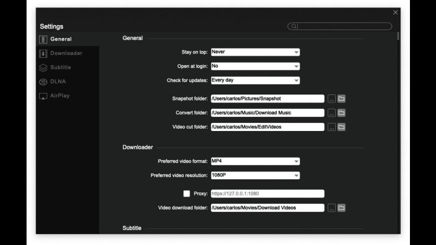 5KPlayer for Mac - review, screenshots