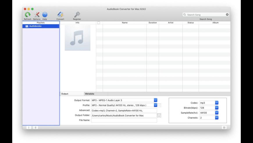AudioBook Converter for Mac for Mac - review, screenshots