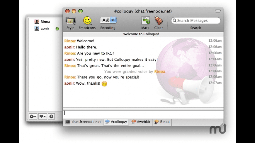 Colloquy for Mac - review, screenshots