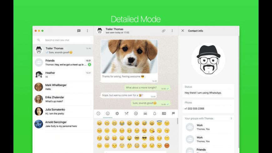 FreeChat for WhatsApp for Mac - review, screenshots