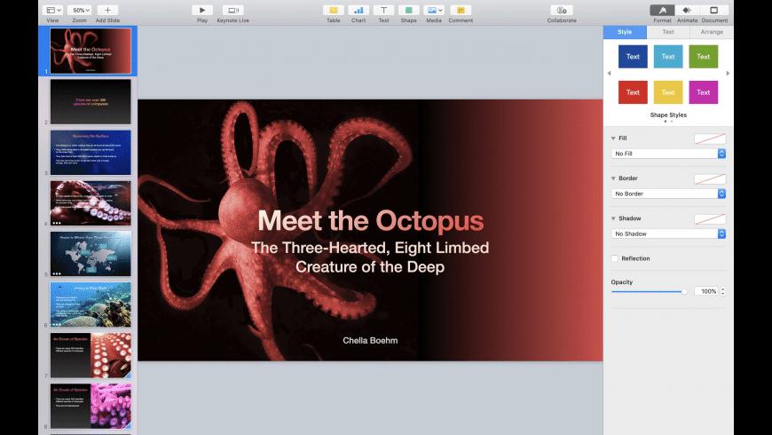 Keynote for Mac - review, screenshots