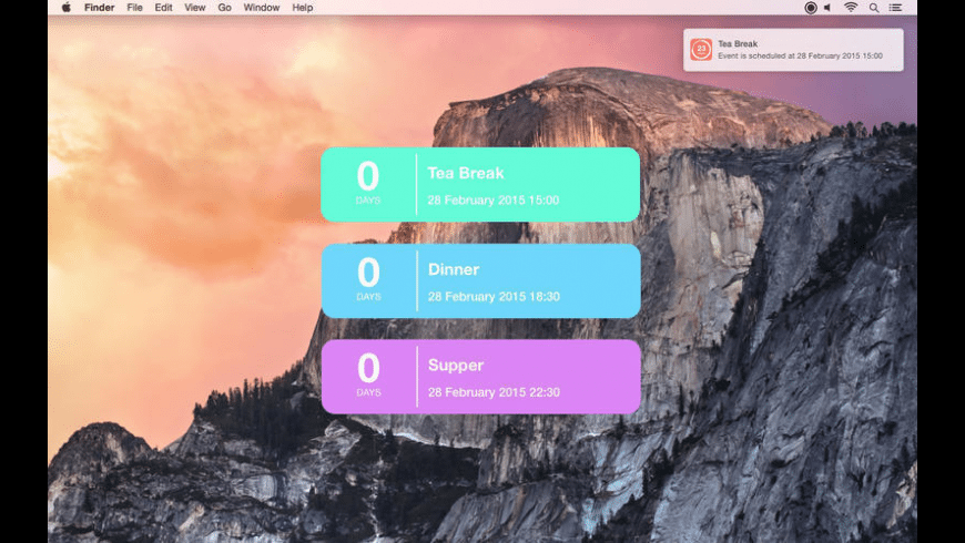 Big Day Countdown for Mac - review, screenshots