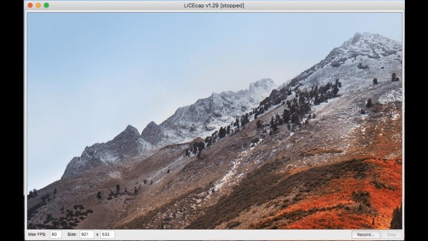 LICEcap for Mac - review, screenshots