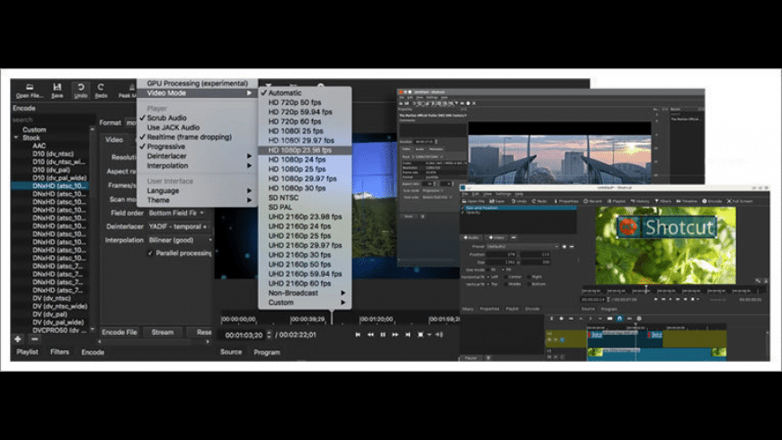 Shotcut for Mac - review, screenshots