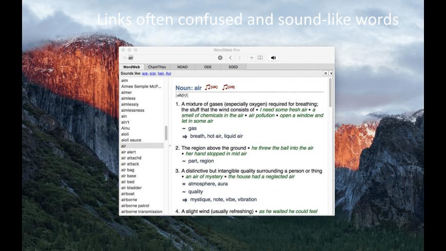 WordWeb Pro for Mac - review, screenshots