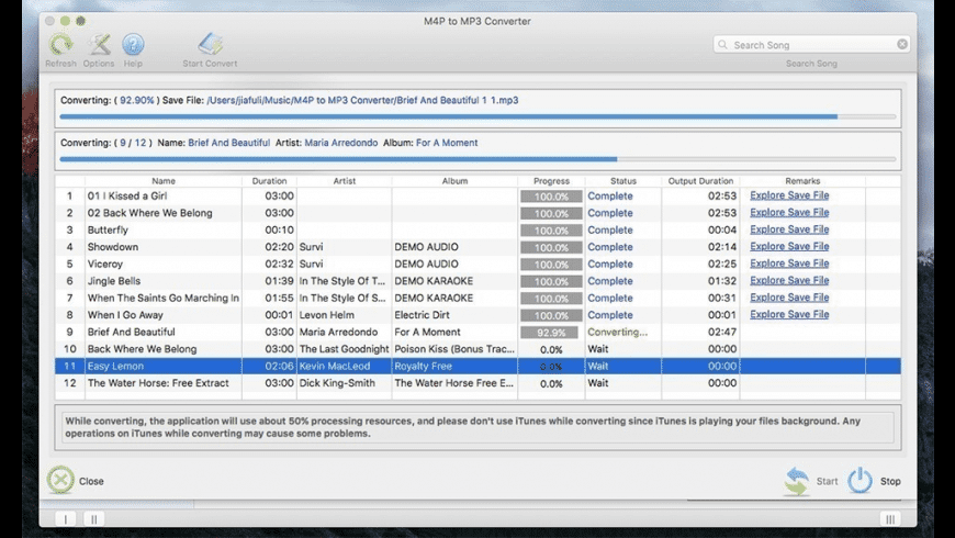 M4P to MP3 Converter for Mac - review, screenshots