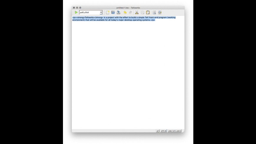 TeXworks for Mac - review, screenshots