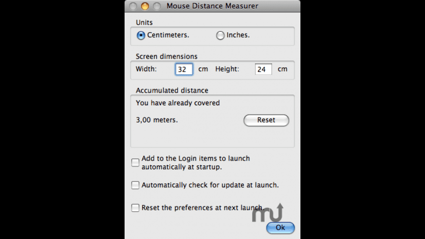 Mouse Distance Measurer for Mac - review, screenshots