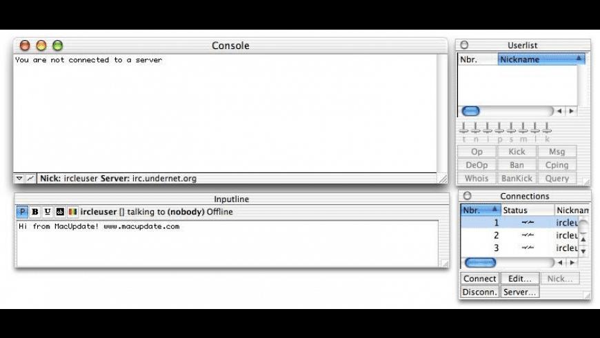 Ircle X for Mac - review, screenshots