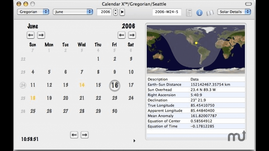 Calendar X for Mac - review, screenshots
