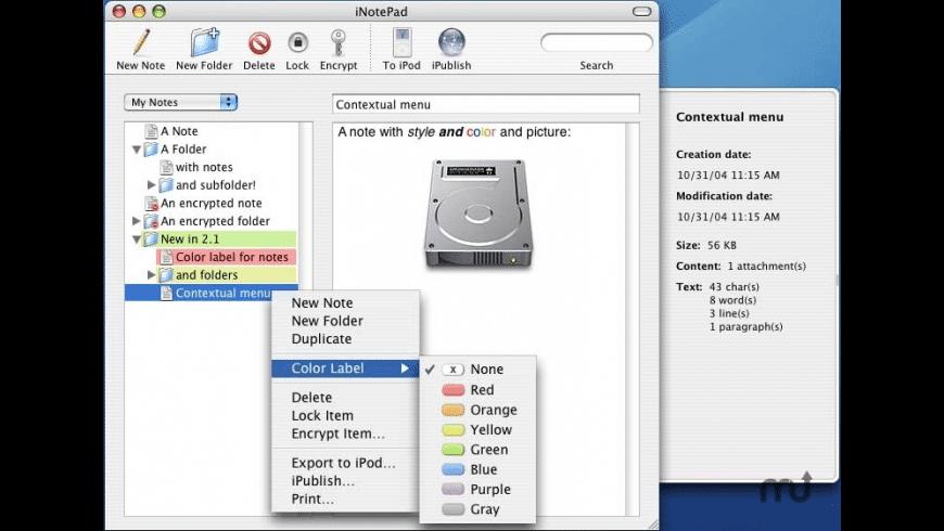 iNotePad for Mac - review, screenshots