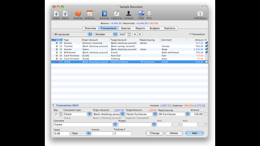 iCash for Mac - review, screenshots