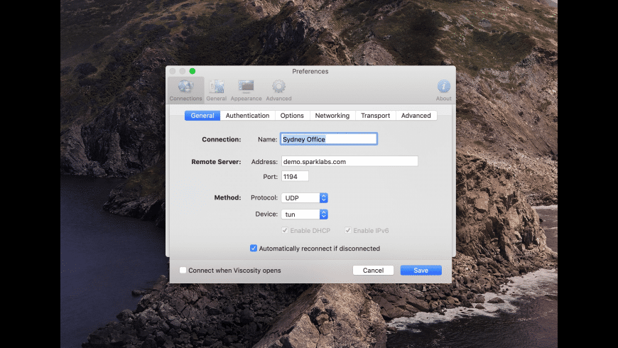 Viscosity for Mac - review, screenshots