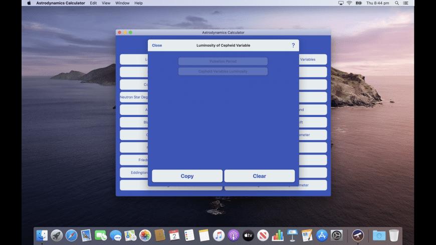 Astrodynamics Calculator for Mac - review, screenshots